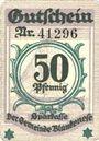 Banknotes Blankenes. Gemeindesparkasse. Billet. 50 pf 15.8.1919 (nov 1920)