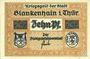 Banknotes Blankenhain. Stadt. Billet. 10 pf n. d.