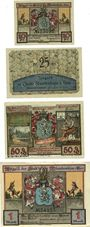 Banknotes Blankenhain. Stadt. Billets. 10 pf, 25 pf, 50 pf, 1 mark n. d. (1921), 1921