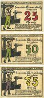 Banknotes Blumenthal. Gemeinde. Billets. 25, 50, 75 pf 25.7.1921