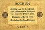 Banknotes Bochum. Amtssparkasse. Billet. 10 pf 1.4.1917