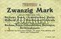 Banknotes Bochum, Essen, Gelsenkirchen, Hattingen, Recklinghausen. Billet. 20 mark n. d., série A