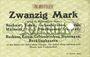 Banknotes Bochum, Essen, Gelsenkirchen, Hattingen, Recklinghausen. Billet. 20 mark n. d.