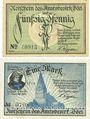 Banknotes Böel. Amstsbezirk. Billets. 50 pf, 1 mark (1920)
