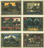 Banknotes Bolkenhain (Bolkow, Pologne). Verein für Heimatpflege. 25, 50 75 pf, 1, 1,50, 2 mk (1922)