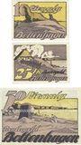 Banknotes Boltenhagen. Badeverwaltung. Billets. 10 pf, 25 pf, 50 pf (juin 1922)