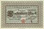 Banknotes Bonn. Stadt. Billet. 100 mark 1.10.1922