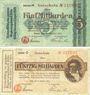 Banknotes Bonn. Stadt und Handelskammer. Billets. 5, 50 milliards de mk 15.10.1923