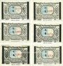 Banknotes Bönningstedt. Gemeinde. Billets. 25 pf  (2ex), 50 pf (2ex), 75 pf (2ex) (1921)
