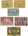 Banknotes Boppard. Billets. 10, 25, 50 pf 31.12.1920, 25, 50 f 30.3.1921, 50 pf 21.4.1921