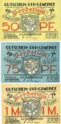 Banknotes Bordelum. Gemeinde. Billets; 50 pf, 75 pf 1 mark 1921. (Var 50 pfennig)
