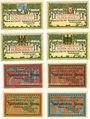 Banknotes Bordesholm. Gemeinde. Billets. 50 pf (4ex),  75 pf (4ex) 30.6.1921