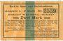 Banknotes Bork. Spar- und Darlehnskasse. Billet. 2 mark 15.8.1914 - 1.4.1915