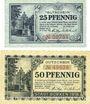 Banknotes Borken. Stadt. Billets. 25 pf, 50 pf 21.9.1918