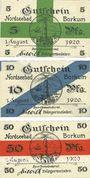 Banknotes Borkum. Gemeinde. Billets. 5 pf, 10 pf, 50 pf