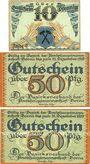 Banknotes Borna. Amtshauptmannschaft. Billet. 10 pf série G, 50 pf série D et H