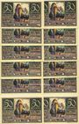 Banknotes Brehna. Stadt. Billets. 50 pfennig (12 ex) juillet 1921