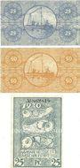 Banknotes Bremerhaven. Geestemünde und Lehe. Städte. Billets. 25 pf, 50 pf n.d., 25 pf sept 1920