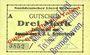 Banknotes Bremerhaven. Norddeutscher Lloyd Bremen. Billet. 3 mark 1914, surchargé, cachet au dos