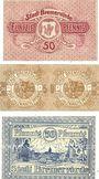 Banknotes Bremervörde. Stadt. Billets. 50 pf n.d., 25 + 25 pf 1.4.1920, 50 pf n.d. (1920)
