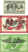 Banknotes Brockau (Brochow, Pologne). Gemeinde. Billets. 10 pf, 25 pf, 50 pf 22.10.1920