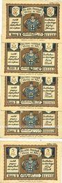 Banknotes Brühl. Kreissparkasse Köln. Billets. 50 pf, 1, 2, 3, 5 mark n.d. - 1.10.1922