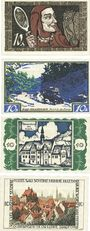 Banknotes Brunswick. Braunschweigische Staatbank. Série de 4 billets. 10 pfennig 1921 (4ex)