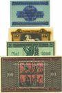 Banknotes Brunswick, Herz. Braunschweigische-Lüneburg. Finanzkollegium. Billets. 5, 10, 20, 100 mk 15.10.1918