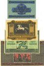 Banknotes Brunswick Herzoglich Braunschweigische-Lüneburgisches Finanzkollegium. 5, 10, 20, 100 mk 15.10.1918
