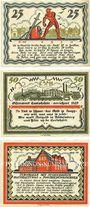 Banknotes Büdelsdorf. Gemeinde. Billets. 25 pf, 50 pf, 75 pf