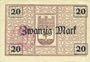 Banknotes Buer. Stadt. Billet. 20 mark  4.11.1918