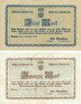 Banknotes Bunzlau (Boleslawiec, Pologne). Stadt. Billets. 5 mark, 20 mark 11.11.1918