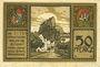 Banknotes Burghausen. Stadt. Billet. 50 pfennig 1918