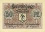 Banknotes Buttstädt. Stadt. Billet. 50 pfennig 1917