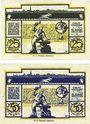 Banknotes Buxtehude. Stadt. Billets. 25 pf, 50 pf n.d. (sept 1920)