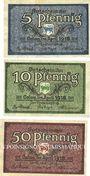 Banknotes Calau. Kreis. Billets. 5, 10, 50 pfennig avril 1918