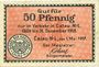 Banknotes Calau. Stadt. Billet. 50 pfennig 1.5.1917
