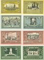 Banknotes Canth (Katy Wroclawskie Pologne). Stadt. Billets. 25 pf (2ex) 50 pf (4ex) 75 pf (2ex) (1922)