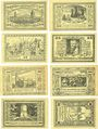 Banknotes Canth (Katy Wroclawskie Pologne) Stadt Billets, 25 pf (4ex), 50 pf (4ex) (1922)