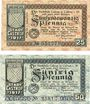 Banknotes Castrop. Stadt. Billets. 25 pf, 50 pf 1.5.1917