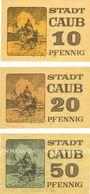 Banknotes Caub. Stadt. Billets. 10 pf, 20 pf, 50 pf (1920)