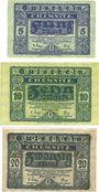 Banknotes Cheminitz. Amtshauptmannschaft. Billets. 5 mk, 10 mk, 20 mk 15.11.1918