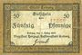 Banknotes Coburg. Stadt. Billet. 50 pfennig 1.3.1917