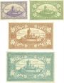 Banknotes Cochen. Landkreis. Billets. 1, 5, 20, 50 mark 19.11.1918