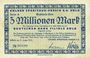 Banknotes Cologne. Kölner Spediteur -Verein E.V. Köln. Billet. 5 millions mark 17.8.1923