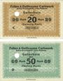 Banknotes Cologne-Mülheim, Felten & Guilleaume Carlswerk. Billets. 20, 50 mark n.d. - 1.2.1919