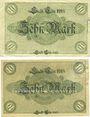 Banknotes Cologne. Stadt. Billets. 10 mark (2ex) 18.10.1918