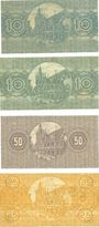 Banknotes Cologne. Stadt. Billets. 10 pf (2ex), 50, 25 pf 1.6.1918
