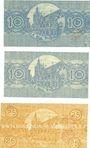 Banknotes Cologne. Stadt. Billets. 10 pf (2ex), série G29, K31, 25 pf série Ba VI, 1.5.1920
