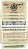 Banknotes Cologne. Stadt. Billets. 5 (3ex), 20 (2ex), 100, 200 (2ex) ,500 millions, 1, 5, 10 milliards mk
